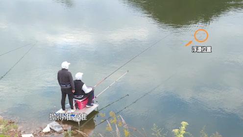 抛竿还真是个精细活,不信你看化绍新,难怪他钓的鱼总比别人多