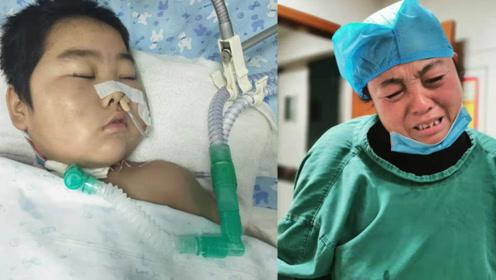 12岁男童昏迷40天被父母带回家准备后事 推出ICU时突然动腿不停流泪