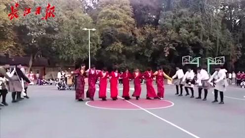 锅庄舞跳起来!武汉高校藏族学生齐舞迎新