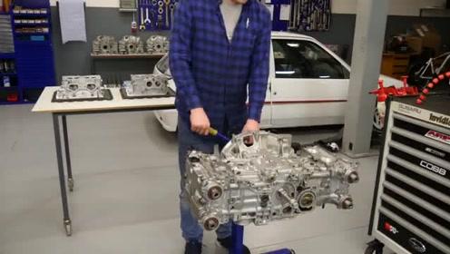 800马力水平对置4缸斯巴鲁拳击手发动机拆解视频2