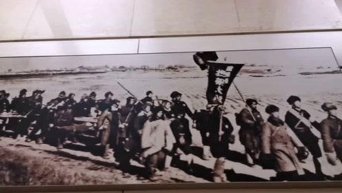 西柏坡纪念馆解放战争中的民兵担架队