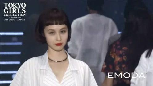 东京女孩走秀,齐刘海设计,可爱满分