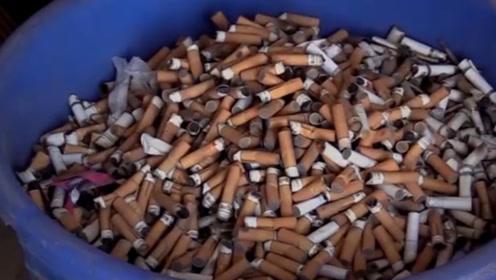 男子靠捡烟头,年收入赚40万,原来烟头中暗藏着商机!