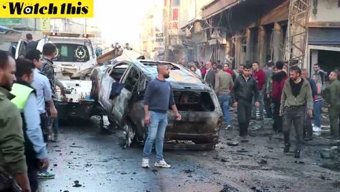 叙利亚东北部发生多起汽车炸弹爆炸事件 升起滚滚浓烟