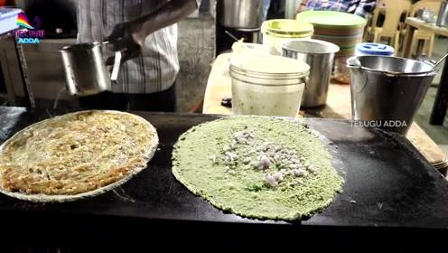 看看印度人做的煎饼怎么样?虽然料足味美但你感觉好吃吗?