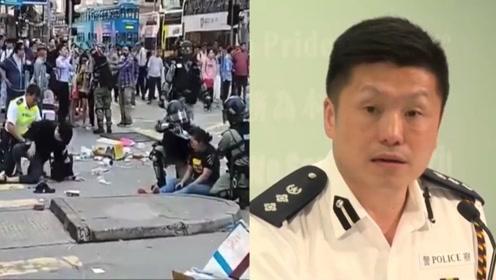 香港暴徒袭警夺枪 中央政法委发声怒赞:此时不开枪 要枪何用?