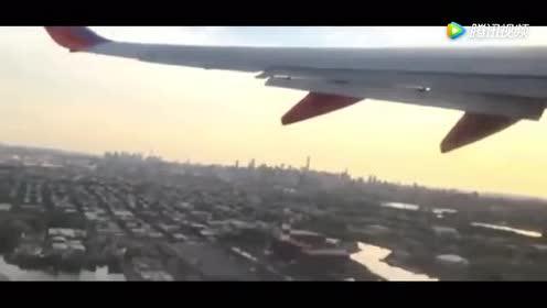 当无人机撞上飞机尾翼!隔着屏幕都打冷颤啊!