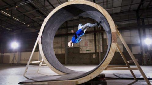 牛顿看了发懵系列:真人挑战360度环形跑道,柯南:瞧瞧我的