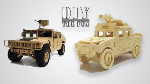 小哥纯手工拼搭一辆悍马汽车模型,看得我都想试试看了