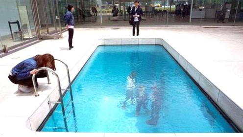 世界上最神奇的泳池,游客在水中行走衣服还不湿,是什么原理?