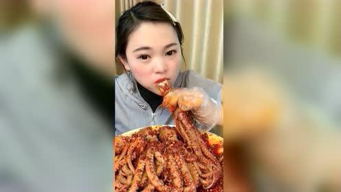 美食吃播:火辣八爪鱼