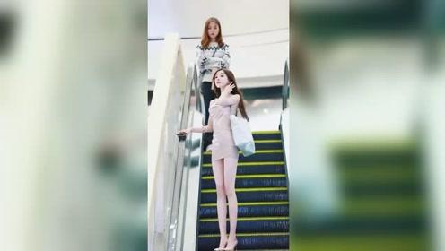 这种肤白貌美大长腿的姑娘,无论走到哪里都会吸引别人的目光吧?