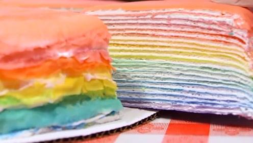 """把""""彩虹""""放到甜品里,五颜六色让人心动"""