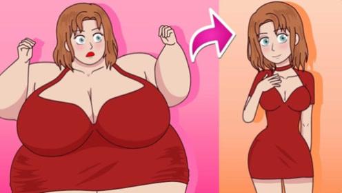女孩因为肥胖身材被同学戏弄,下定决心减肥,不料成了女神