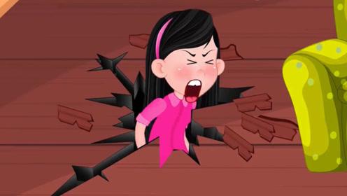 男孩使坏把姐姐弄摔倒,姐姐用饼干引来恶魔小弟,制裁男孩!