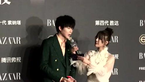 刘宇宁绿色西装现身芭莎红毯:感谢粉丝和我一起做公益