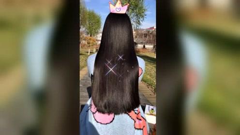 这样的长发你喜欢吗?感觉皮筋都制服不了它!