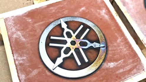 看大神如何铸造雅马哈商标,3D打印都用上了,成品出来挺精良
