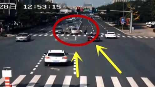 任性闯红灯!男子本以为可以安全通过路口,下一秒悲剧就发生了