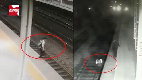 浙江一感情受挫女子跳轨轻生,火车站台上演生死50秒