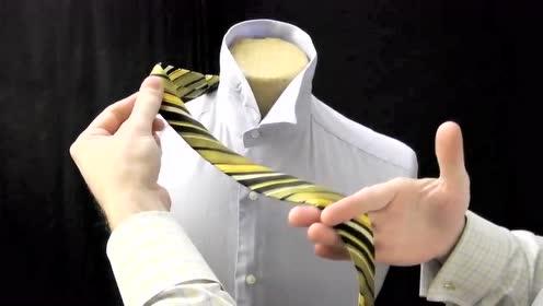 下班了,回到家领带如何解下,看,很简单