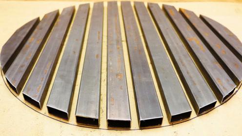 制作一张中间可旋转工作台,太实用了,焊接效率增加好几倍