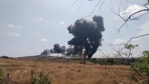 又掉一架!印度海军米格29KUB战机坠毁:现场黑烟冲天