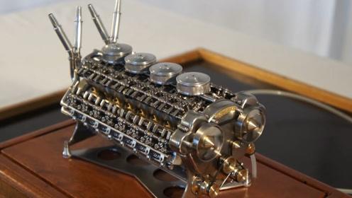 """全球首台""""32缸发动机"""",由牛人纯手工打造,多次加速硬币都不倒"""