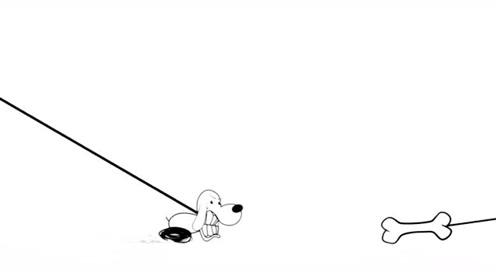 创意动漫搞笑简笔画卡通动画,为了一块骨头,铅笔小人经历惊心动魄的遭遇