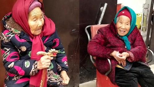 太暖了吧!107岁妈妈给84岁女儿捎糖吃,女儿脸上瞬间笑开花