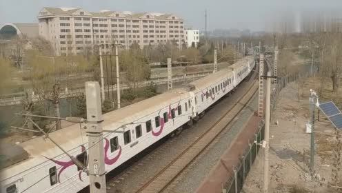 国际联运列车—K24次,晚点通过玉蜓桥往北京站方向