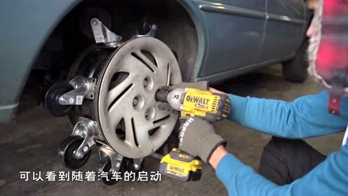 汽车轮胎花样改造,轮胎上加上20个小轮胎,会变得更灵活吗?