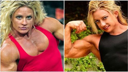 """健身界的3位""""巨臂姐"""",臂围超过50厘米,让男人看到惭愧!"""