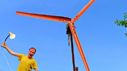 这风力发电机做的实在太棒了,网友:大叔能教教我吗?