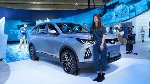 威马EX6 Plus车展实拍 高度还原概念车 续航里程503km