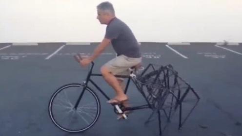 三个好玩的小发明集锦 这样的自行车你敢骑一下吗