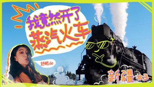 开车算什么?妹子在新疆开了中国最后的蒸汽火车!当了一回火车副司机