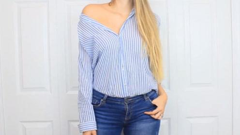 老土的衬衫,换成这四种新穿法,好看又时髦,真是美翻了