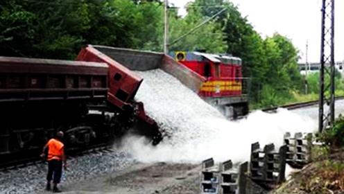 第一次见!火车是这样装卸石子的,网友:我国比这先进的多
