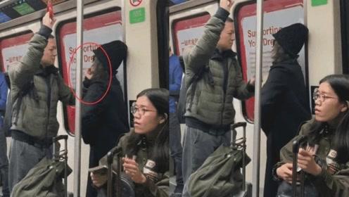 地铁偶遇梅婷夫妇,丈夫的贴心举动让网友直呼嫁对了人