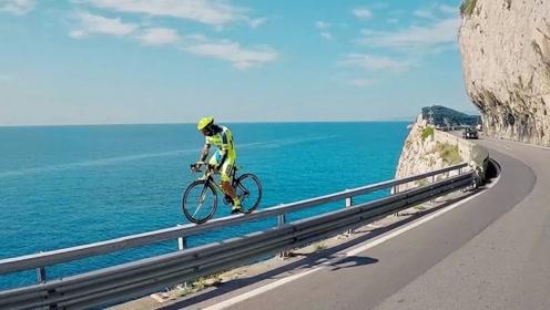 骑自行车骑到看的人都发颤,这也太拼命了,怎么做到的?