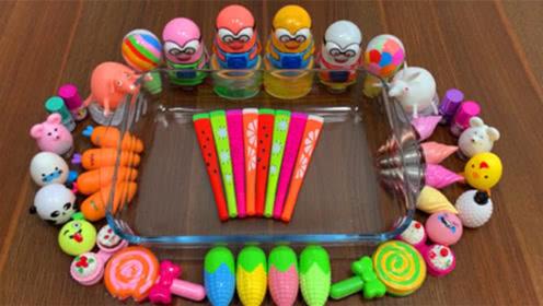 彩虹球,玉米彩泥,萝卜彩泥,棒棒糖泥,DIY史莱姆颜色美哒哒