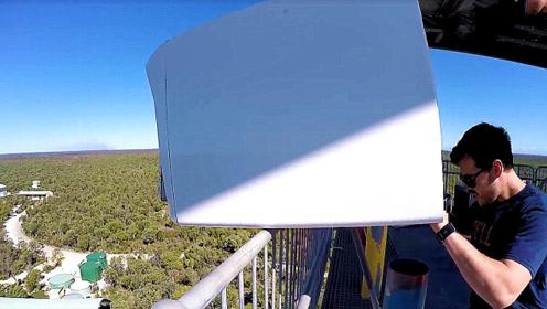 老外把洗衣机从45米高扔下,结果会怎样?以后要用手洗衣服了!