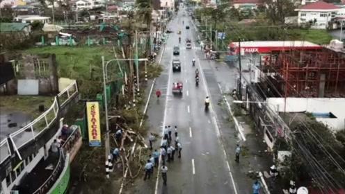"""台风""""北冕""""侵袭菲律宾 城市一片狼藉机场关闭"""