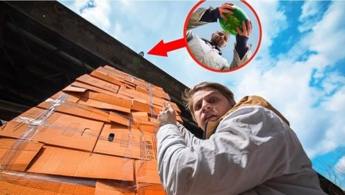 西瓜从20米高空扔下,要怎样才能保持完好无损?看完我笑了!