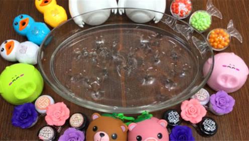 DIY史莱姆教程,假水泥混合糖果小饰品、水晶泥、玫瑰花