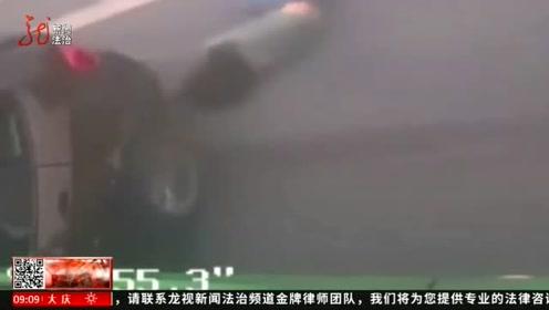 大货车发生事故未停车,女司机跳车逃生