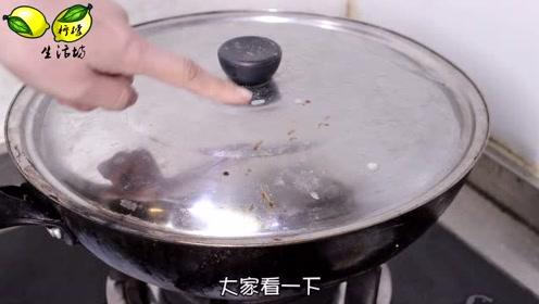 锅盖脏了别用钢丝球擦,1个简单方法,几分钟变得干干净净,实用