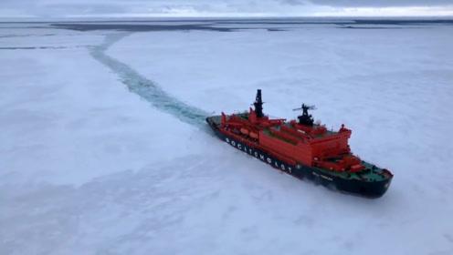破冰船如何破冰?和普通轮船差距之大,看完涨知识了