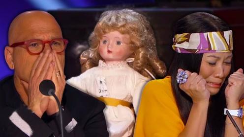 看了会做噩梦的魔术表演!大佬居然操控布娃娃,让蒙眼者同步